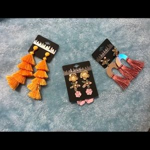 3 Nicole Miller Earrings! NWT